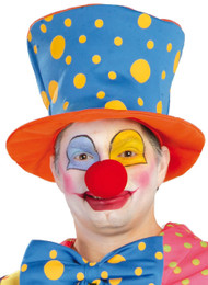 Adults Spotty Clown Hat Fancy Dress Accessory