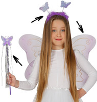Girls  3 Piece Butterfly Fancy Dress Kit