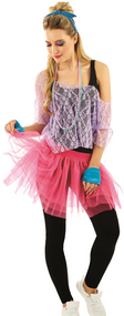 Ladies 1980's Lace Fancy Dress Kit