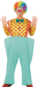 Mens Comedy Clown Fancy Dress Outfit
