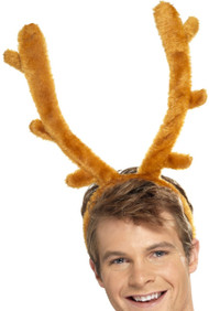 Mens Stag Night Horns Fancy Dress Headband