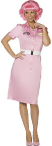 Ladies Frenchie Grease Fancy Dress Costume