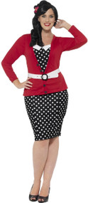 Ladies Curvy Pin Up Fancy Dress Costume