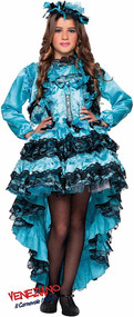 Girls Deluxe Burlesque Fancy Dress Costume