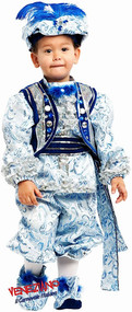 Boys Blue Renaissance Prince Fancy Dress Costume