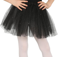 Girls Black Glittery Fancy Dress Tutu
