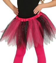 Girls Pink & Black Glittery Fancy Dress Tutu