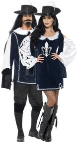 Couples Musketeer Fancy Dress Costume