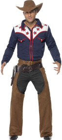 Men's Modern Rodeo Cowboy Fancy Dress Costume