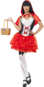 Ladies Light Up Red Princess Fancy Dress Costume