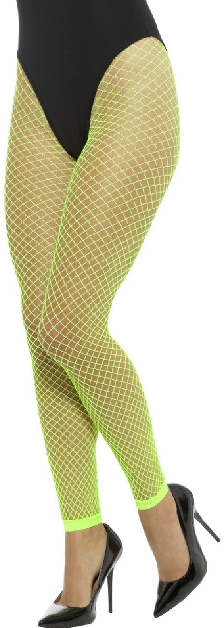 129810f3f Ladies Neon Green Fishnet Footless Tights - Fancy Me Limited