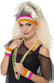 Adult Neon 80's Sweatbands