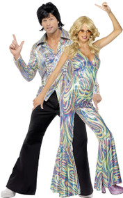 Couples 70s Disco Fancy Dress Costume