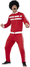 Adults 80s Scouser Tracksuit Fancy Dress Costume