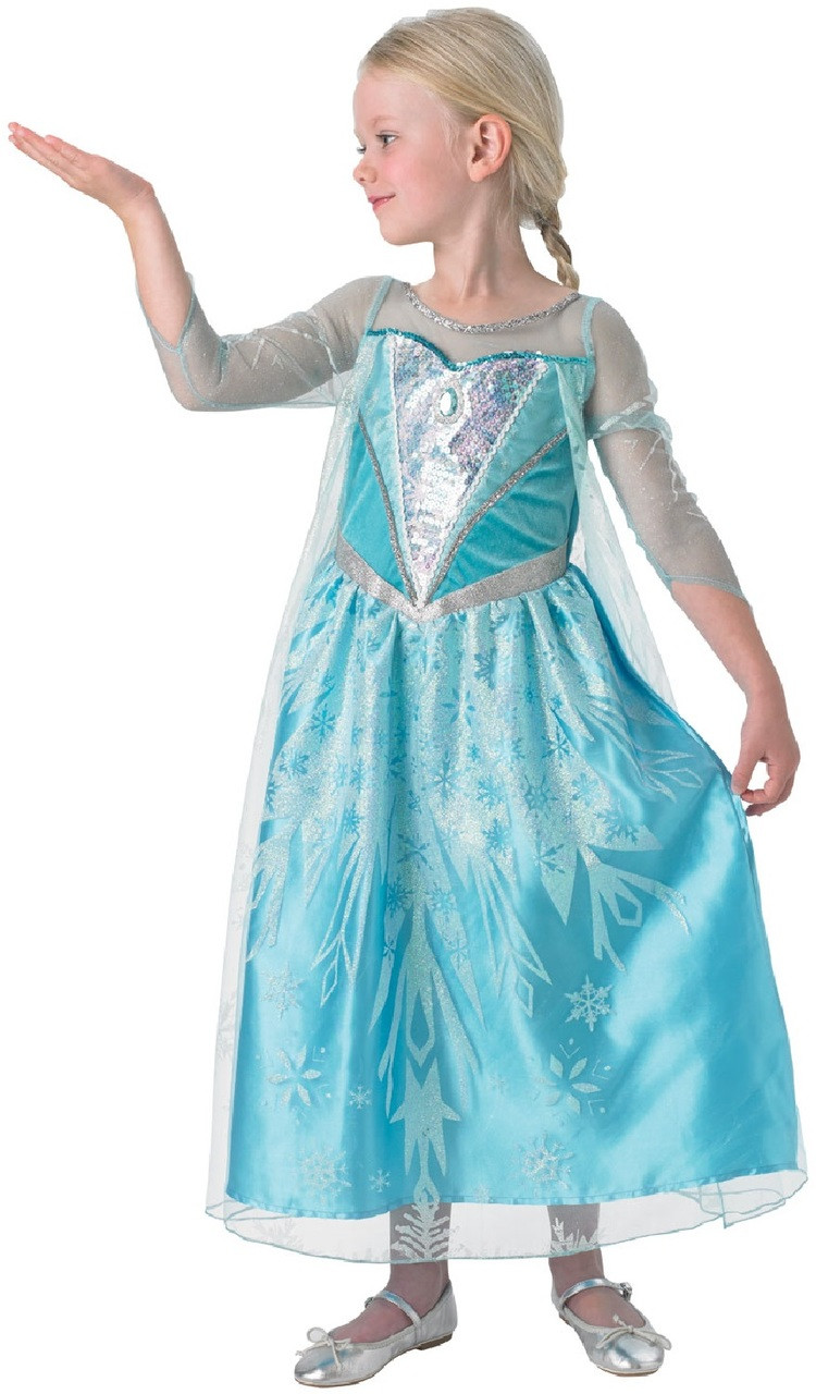 ca5a7fdbdb27e Girls Premium Elsa Fancy Dress Costume - Fancy Me Limited