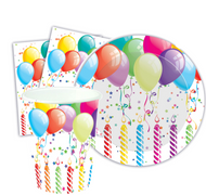 Birthday Balloons Table Wear Decoration Set
