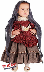Girls Deluxe Old Lady Fancy Dress Costume