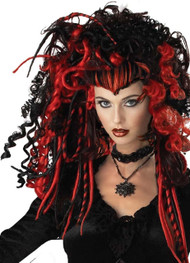 Ladies Vampire Dread Fancy Dress Wig