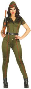 Ladies Sexy Army Wife Fancy Dress Costume