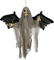 Halloween Animated Skull With Wings