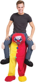 Adults Ride On Horror Clown Fancy Dress Costume