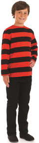 Child's  Red Black Menace Fancy Dress Shirt