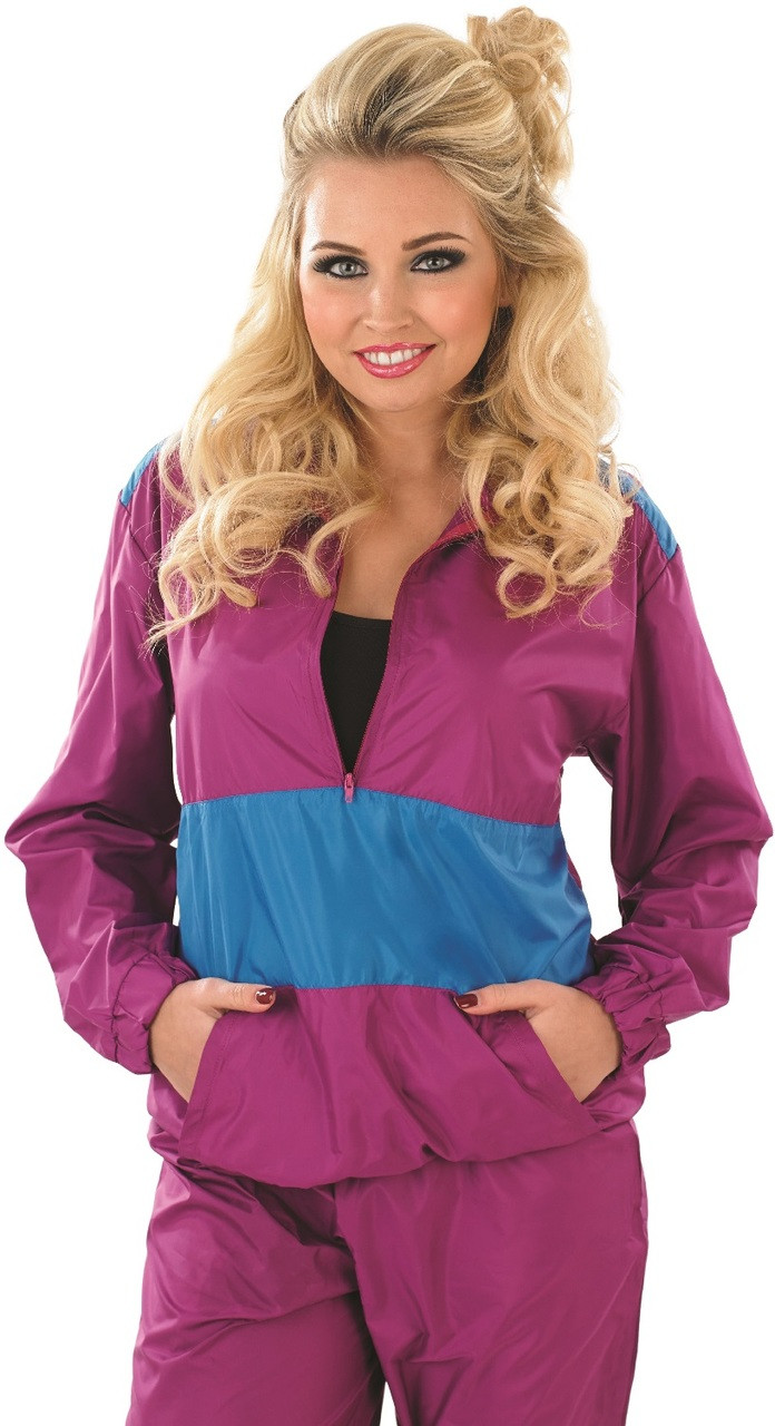 Ladies 1980s Shell Suit Fancy Dress Costume Fancy Me Limited