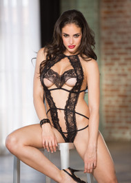 Black Tulip Lace Teddy