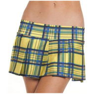 Thigh Yellow Pleated School Girl Skirt