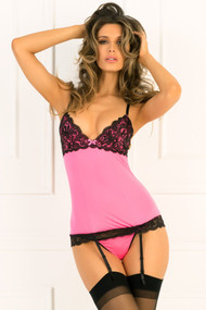 Pink Hollywood Chemise Set