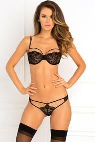 Rough Romance Strappy Lace Bra & G-String Set