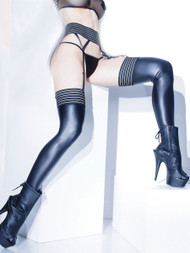 Matte Wetlook Thigh High Stocking