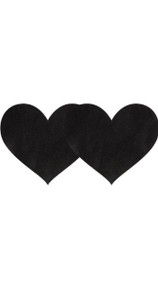 Black Satin Heart Pasties