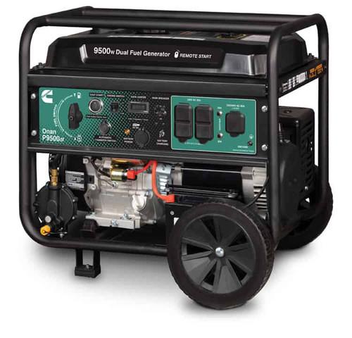 Cummins Onan P9500df 7500W Dual Fuel Electric Start Portable Generator