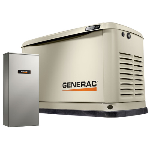 Generac 7172 10kW Guardian Generator with Wi-Fi & 100A 16-circuit Transfer Switch