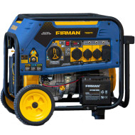 Firman T08071 8000W Electric Start Tri-Fuel Portable Generator with Wheel Kit
