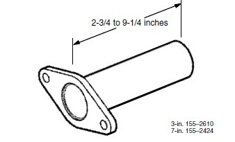 Cummins Onan 155-2610 3 Straight Down Exhaust