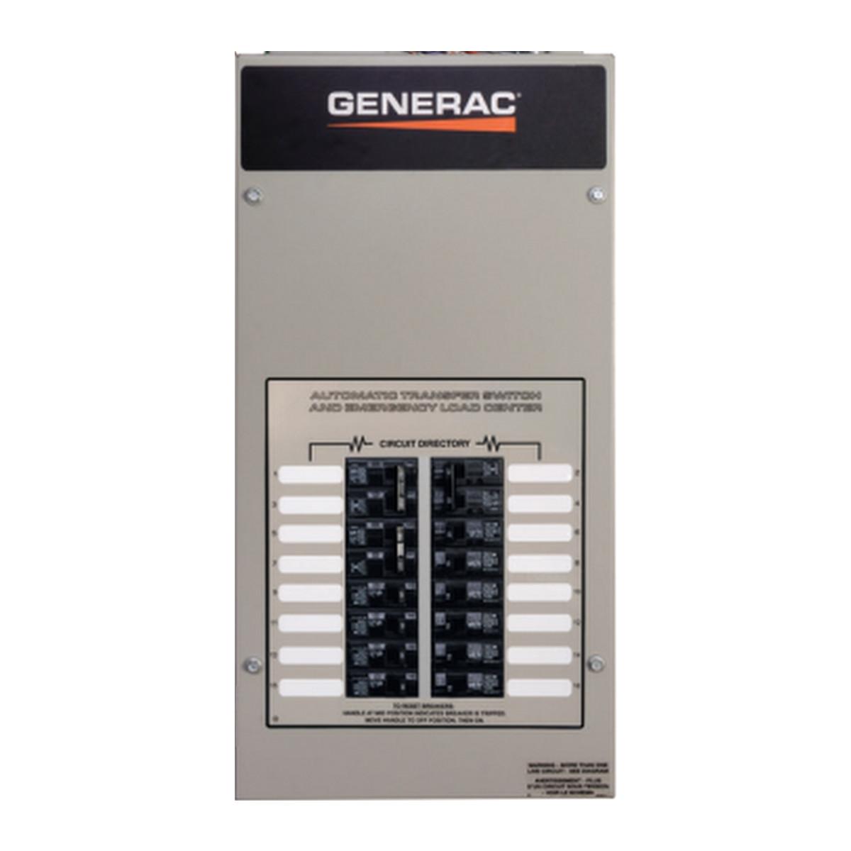 generac rxg10eza1 50a 1� 120 240v nema 1 automatic transfer switch with 10 circuit load center Relay Switch Wiring Diagram