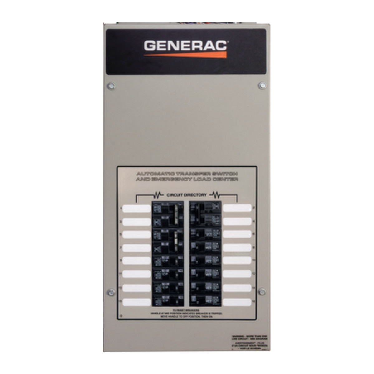 RXG16EZA1 Generac 100A 16-circuit Transfer Switch w/Load Center KitAP Electric Generators