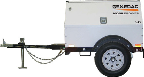 Generac MLG8K 8.1kW Mobile Light Towable Diesel Generator with Kubota Engine