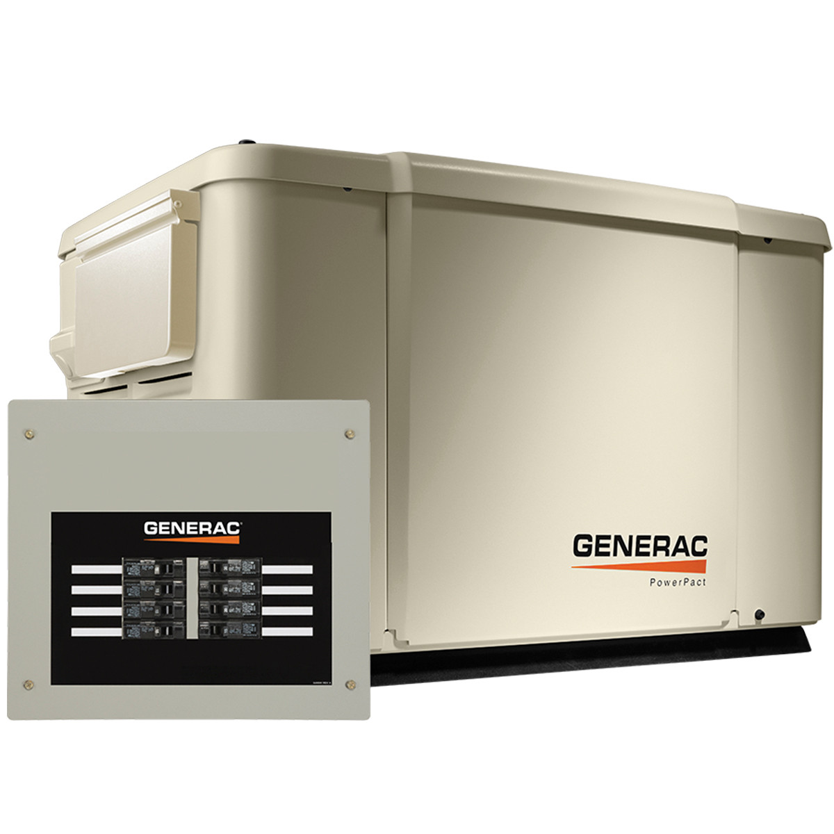 Generac 6998 PowerPact 7.5kW Generator with Wi-Fi & 50A 8-circuit Transfer on