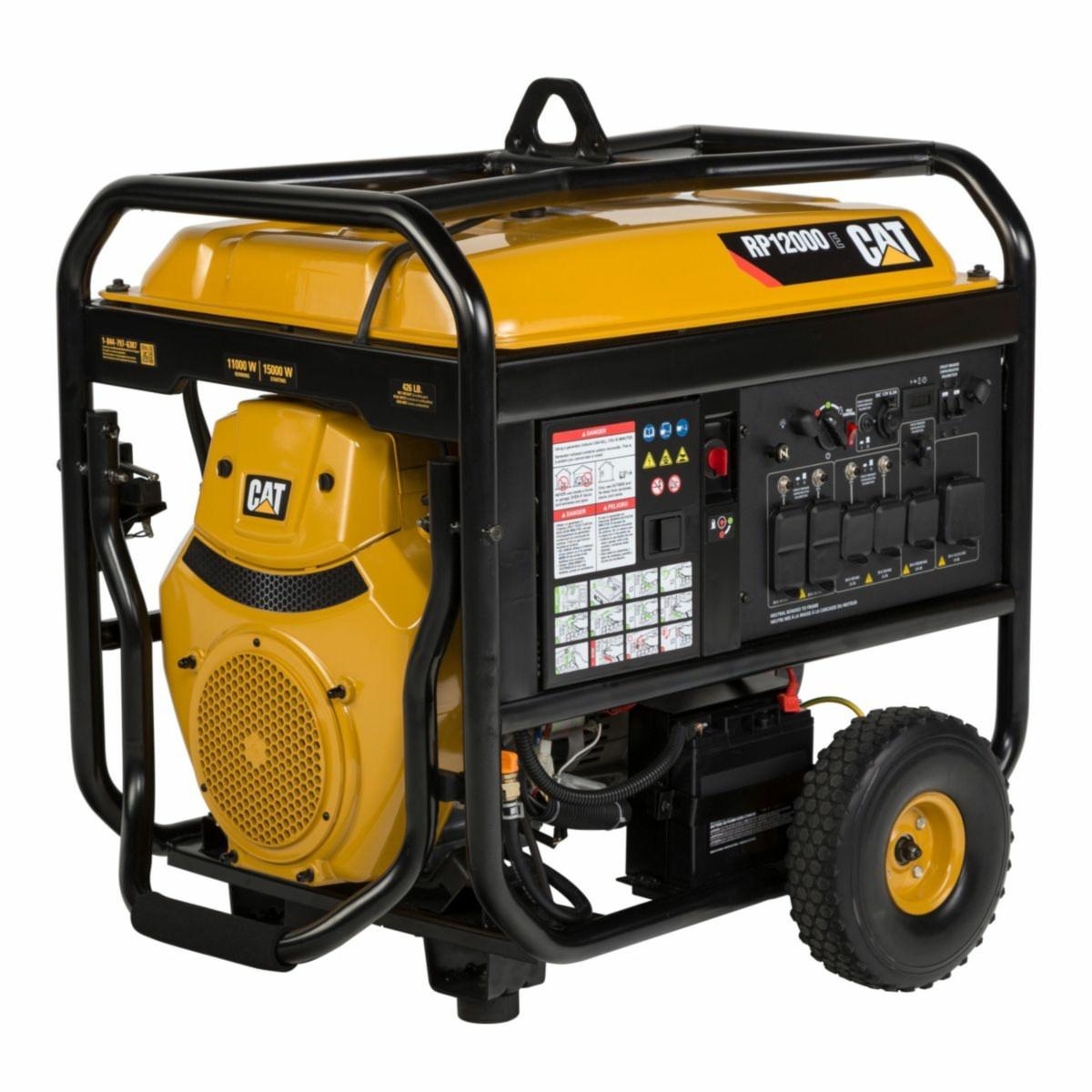 cat rp12000e 12000w electric start portable generator generac gp5500 carburetor carb compliant portable generators