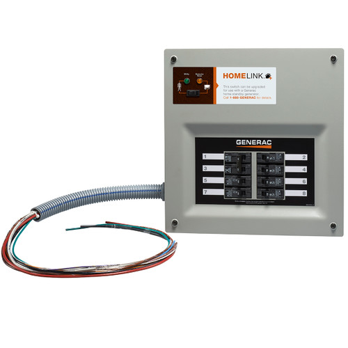 Generac HomeLink 9854 50A 10-16 Circuit Nema 1 Upgradeable Manual Transfer Switch