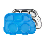 Stainless Divided Bus Plate with Lid / BLUE