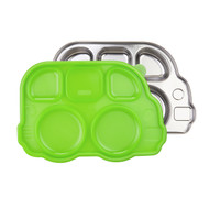 Stainless Divided Bus Plate with Lid / Green