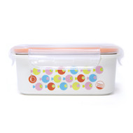 Keepin' Fresh Stainless Bento Snack or Lunch Box with Lid for Kids and Toddlers - Fish / Orange / 15 oz