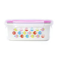 Keepin' Fresh Stainless Bento Snack or Lunch Box with Lid for Kids and Toddlers - Fish / Pink / 15 oz