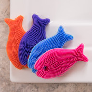 Innobaby Bathin' Smart Silicone Fish Antimicrobial Bath Scrub for Babies and Toddlers
