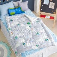 """Cotton Jacquard Quilted Toddler Comforter 41""""x51"""""""