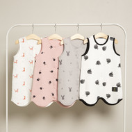 Little Fennec Cotton Playtime Romper with Snap Closure, One Size 3-36 Months (Various Patterns)